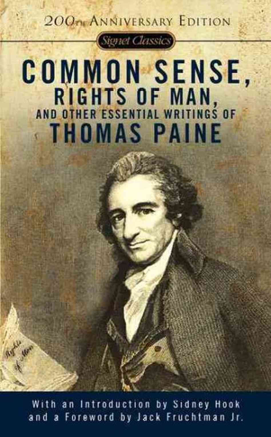 "common sense by thomas paine american Thomas paine (2003) ""common sense, the rights of man and other essential writings of thomaspaine"", p96, penguin."